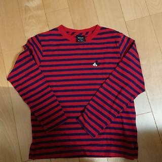 ジーユー(GU)の新品同様☆GUキッズミッキーボーダーロンT140㎝(Tシャツ/カットソー)
