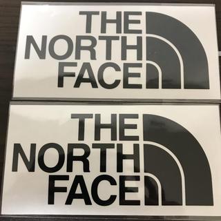 ザノースフェイス(THE NORTH FACE)の【縦7cm横14cm】THE  NORTH FACEカッティングステッカー 二枚(ステッカー)