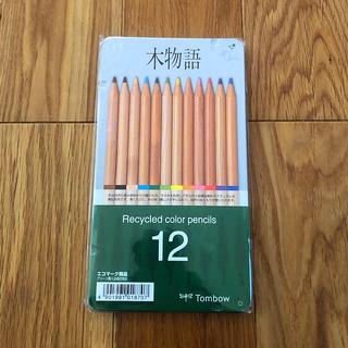 トンボ鉛筆 木物語 缶入り色鉛筆12色