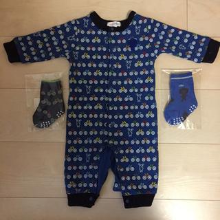 ハッカベビー(hakka baby)のnotsobig ロンパース Sサイズ 70 靴下セット(ロンパース)