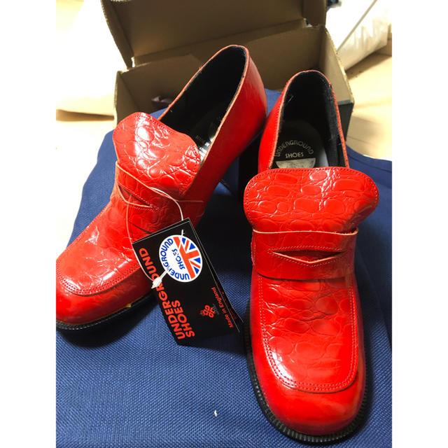 UNDERGROUND(アンダーグラウンド)の値下げ!デッドストック アンダーグラウンドuk6 レディースの靴/シューズ(ローファー/革靴)の商品写真