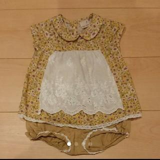 ea3cefb0c778e プティマイン(petit main)のプティマイン 花柄 丸襟チュニックパンツセット(Tシャツ
