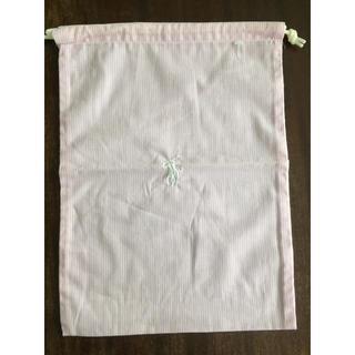 ラルフローレン(Ralph Lauren)の値下げ 新品 ラルフローレン巾着袋(ピンク×白 ストライプ柄)32×23㎝ポーチ(ソックス)