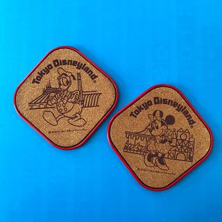 ディズニー(Disney)の東京ディズニーランド コースター 2枚(テーブル用品)