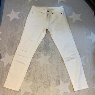 ムジルシリョウヒン(MUJI (無印良品))の白パンツ  アンクル丈 スキニータイプ(スキニーパンツ)