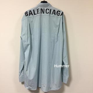 バレンシアガ(Balenciaga)の国内直営品  バレンシアガ バックロゴ シャツ !アイコン  新品同様!(シャツ)