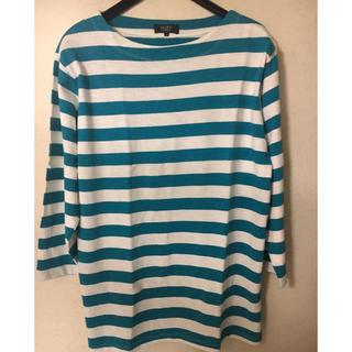 ブラウニー(BROWNY)のBROWNYSTANDARD男女兼用七分袖ボーダーカットソーM(Tシャツ/カットソー(七分/長袖))
