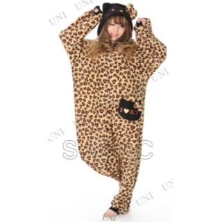 サンリオ(サンリオ)の新品 キティ フリース 着ぐるみ ハート豹柄 ベージュ     (衣装一式)