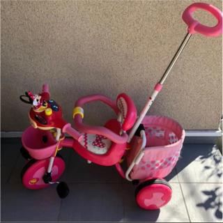 ディズニー(Disney)の手渡し希望! 音がなる♪ミニーちゃん 三輪車 ディズニー(三輪車)
