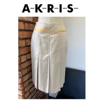 アクリス(AKRIS)の新品・未使用/タグ付き☆Akris/アクリス☆ひざ丈スカート☆ベージュ☆J36(ひざ丈スカート)