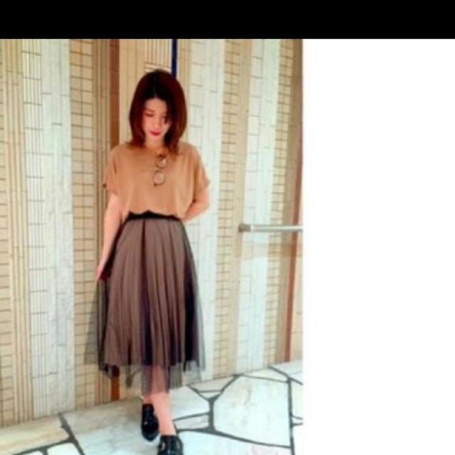 FRAY I.D(フレイアイディー)のFRAY ID インナープリーツチュールスカート レディースのスカート(ロングスカート)の商品写真