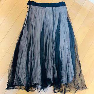 フレイアイディー(FRAY I.D)のFRAY ID インナープリーツチュールスカート(ロングスカート)