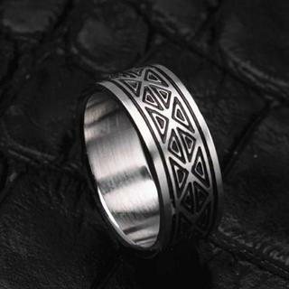 幾何学模様リング ステンレス(リング(指輪))