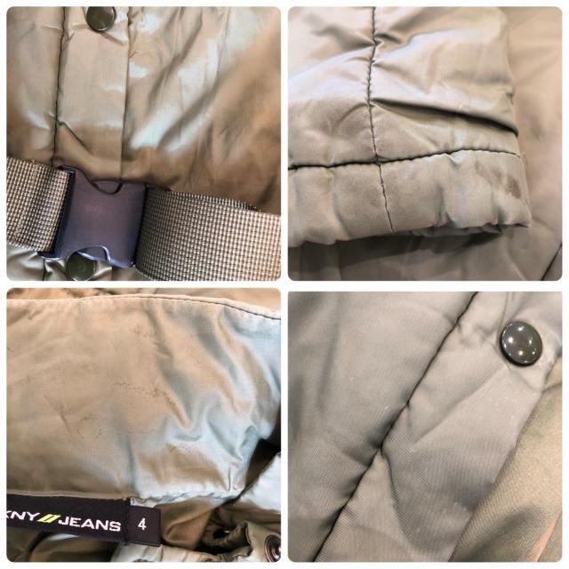 DKNY WOMEN(ダナキャランニューヨークウィメン)のDKNY JEANSダナキャランニューヨーク♦︎中綿入りチェスト コート カーキ レディースのジャケット/アウター(ダウンコート)の商品写真