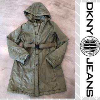 ダナキャランニューヨークウィメン(DKNY WOMEN)のDKNY JEANSダナキャランニューヨーク♦︎中綿入りチェスト コート カーキ(ダウンコート)