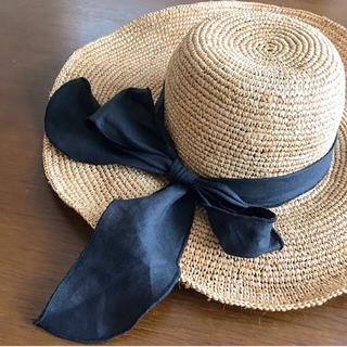 ルームサンマルロクコンテンポラリー(room306 CONTEMPORARY)のペペペ様専用❤️サマーワイドハット❤️むぎわら帽子🌿(麦わら帽子/ストローハット)