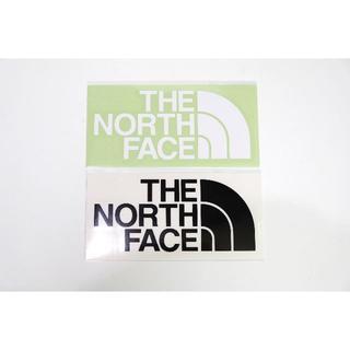 ザノースフェイス(THE NORTH FACE)のノースフェイス TNFカッティングステッングステッカー ブラック ホワイト(ステッカー)