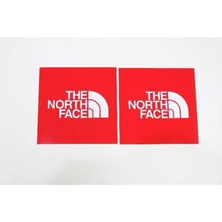ザノースフェイス(THE NORTH FACE)のノースフェイス  TNFステッカー小 レッド2枚 (ステッカー)