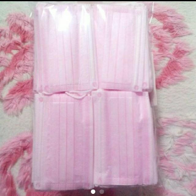 マスク使い捨てシート 、 お得★S 新品 使い捨て ピンク マスク 女性用 子供用 小さめ Sサイズ 小顔の通販 by White Rose