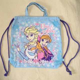 ディズニー(Disney)の水通しのみ♡アナと雪の女王♡ナップザック♡体操服袋♡入学♡入園♡持ち手あり♡(体操着入れ)