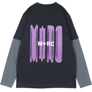 ノワール(NOIR)のマルシェノア  M+RC NOIR   DOUBLE LAYER BK PUR (Tシャツ/カットソー(七分/長袖))