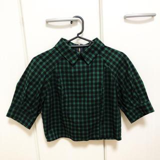 グースィー(goocy)のgoocy チェックシャツ/ブラウス(シャツ/ブラウス(半袖/袖なし))