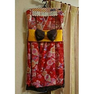 新品 未使用 袴 上下セット 160cm はかま 着物 帯 3点セット 赤 紫(着物)