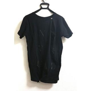 オドゥール(odeur)のodeur オドゥール 変形 カットソー Tシャツ ボタン付(Tシャツ/カットソー(半袖/袖なし))