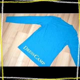 ドレスキャンプ(DRESSCAMP)の≪国内正規 名作≫ DRESSCAMP ロゴ VネックロンT Blue 46 (Tシャツ/カットソー(七分/長袖))