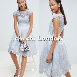チチロンドン(Chi Chi London)のchi chi london プレミアム レースドレス(ミディアムドレス)