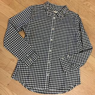 チェスティ(Chesty)の美品!chesty ビジュー ギンガムチェックシャツ 0(シャツ/ブラウス(長袖/七分))