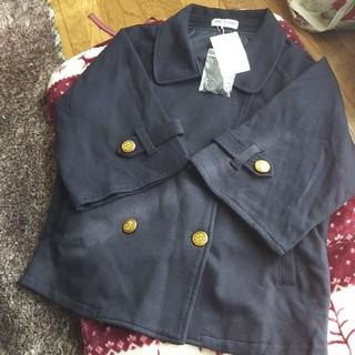 クラウンバンビ(CROWN BANBY)の新品クラウンバンビ八分袖ジャケット 130 ネイビー(ジャケット/上着)
