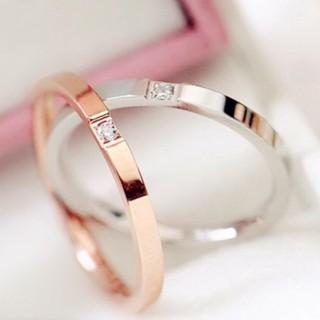 キラキラワンポイントサージカルステンレスリング指輪 (リング(指輪))