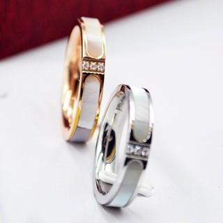 天然白蝶貝使用!チタンステンレスリング指輪 (リング(指輪))