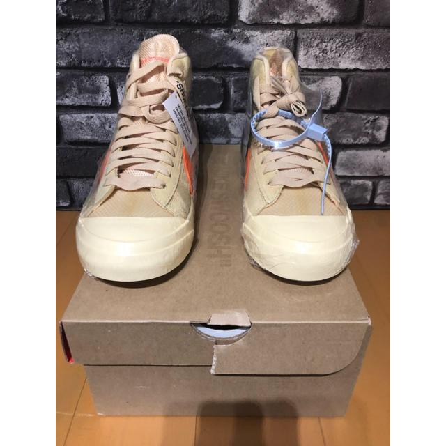 NIKE(ナイキ)の国内正規 OFF WHITE NIKE BLAZER THE TEN 10 レディースの靴/シューズ(スニーカー)の商品写真