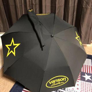 バンソン(VANSON)の新品 バンソン 折りたたみ傘 ブラック vanson  星(傘)