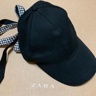 ザラ(ZARA)の⬇︎⬇︎ ZARA リボン付きキャップ(キャップ)