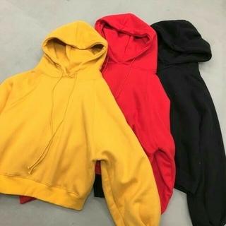 大きめ ビッグ シンプル パーカー 赤 黒 黄色 オルチャン 韓国 衣装 ダンス(パーカー)