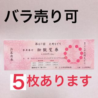北野をどり チケット(伝統芸能)