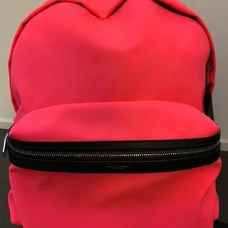 サンローラン(Saint Laurent)のSaint Laurent バックパック 正規品 ピンク ネオンピンク(バッグパック/リュック)