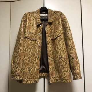 バレンシアガ(Balenciaga)のMrtineRose 17SS Python leather jacket(レザージャケット)