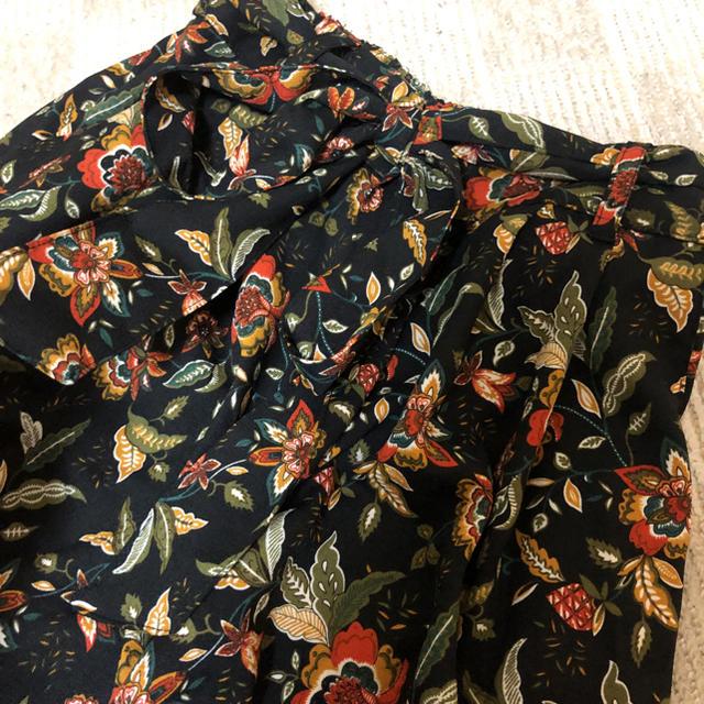 しまむら(シマムラ)の花柄 ガウチョパンツ レディースのパンツ(その他)の商品写真