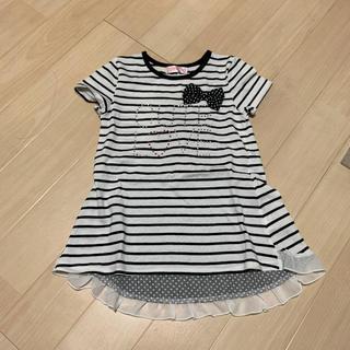 子供服 キッズ ワンピース Tシャツ 130(ワンピース)