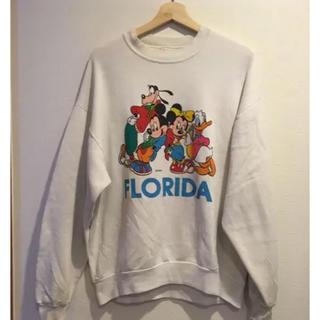 ディズニー(Disney)の90s ビンテージディズニー USA製ミッキースウェット トレーナー  (スウェット)