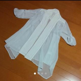ツインルーム(TWNROOM)の白シフォンシャツ・ツインルーム(シャツ/ブラウス(長袖/七分))