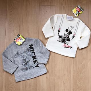 ディズニー(Disney)の【新品・タグ付】サイズ80*ディズニー ミッキー トレーナー Tシャツ 裏起毛(トレーナー)