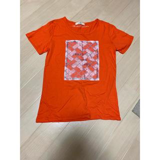 イッカ(ikka)のikka Tシャツ オレンジ(Tシャツ(半袖/袖なし))