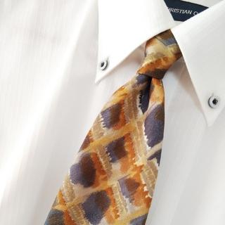 クリツィア(KRIZIA)の美品 KRIZIA UOMO シルク アートデザイン ネクタイ アメリカ製(ネクタイ)