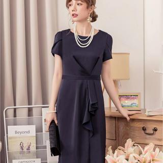 821642cae0624 ザラ(ZARA)のワンピース ドレス フォーマル ネイビー 新品 未開封 dress star(ひざ
