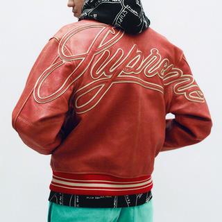 シュプリーム(Supreme)のSupreme 19SS leather varsity jacket M(レザージャケット)